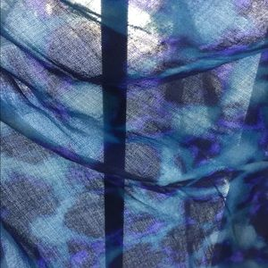 Other - Sarong size  cotton scarf in shades of blue